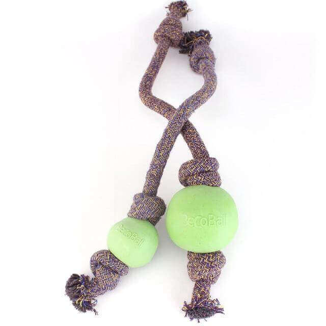 BECO BALL- ON-ROPE GREEN LARGE 1