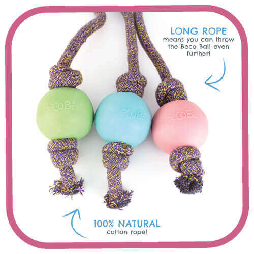 BECO BALL- ON-ROPE BLUE LARGE 6