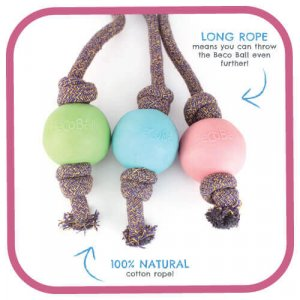 BECO BALL- ON-ROPE BLUE LARGE 13