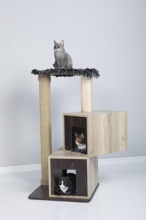 """Fluffy"" Kitty Fun 2 boxes Cat Tree Condo & Scratcher 1"