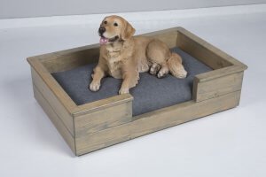 W&P Wooden Dog Bed with layer