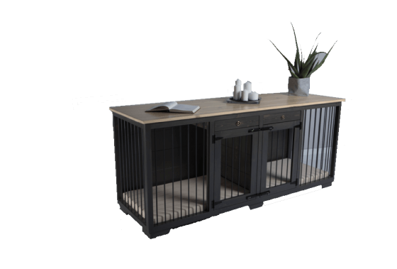 """""""Zahra"""" W&P Double Dog Kennel with Drawer 1"""