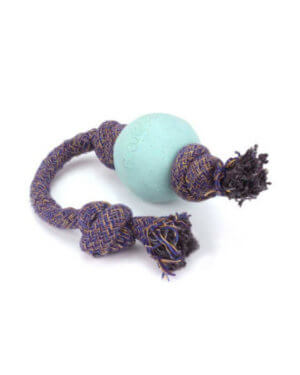 BECO BALL- ON-ROPE BLUE LARGE 5