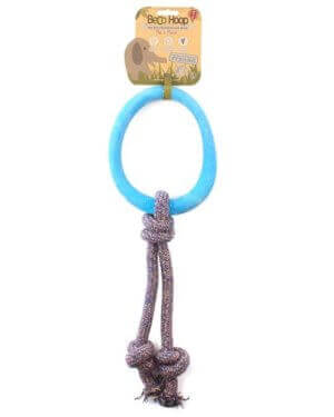 BECO NATURAL RUBBER HOOP ON ROPE BLUE SMALL 1