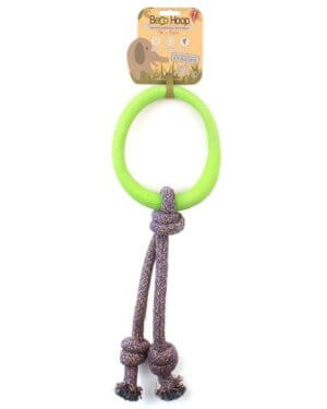 BECO NATURAL RUBBER HOOP ON ROPE GREEN SMALL 3