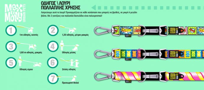 ΟΔΗΓΟΣ ΠΕΡΙΠΑΤΟΥ MULTI LEASH MAX & MOLLY ETHNIC MEDIUM 3