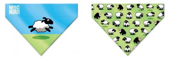 BANDANA MAX & MOLLY BLACK SHEEP-MEDIUM/LARGE 1